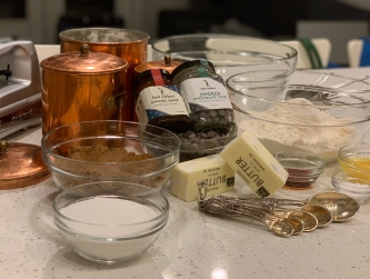 Salted Caramel Smoked Chocolate Chip Cookie Ingredients